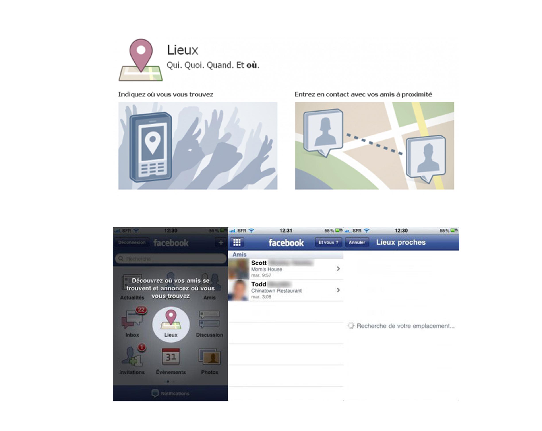 Facebook vous suit à la trace avec «Lieux»