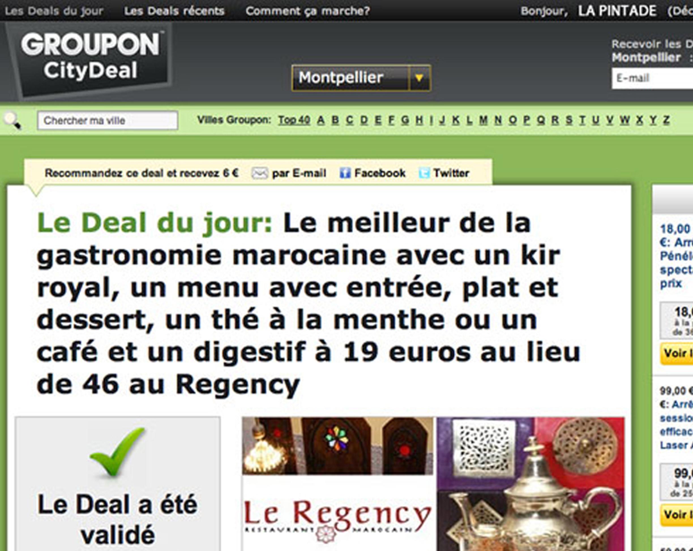 Jusqu'à -90% de «réductions sorties» tous les jours sur Montpellier