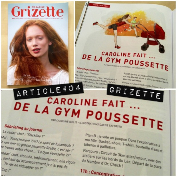 article dans le magazine Grizette de Montpellier