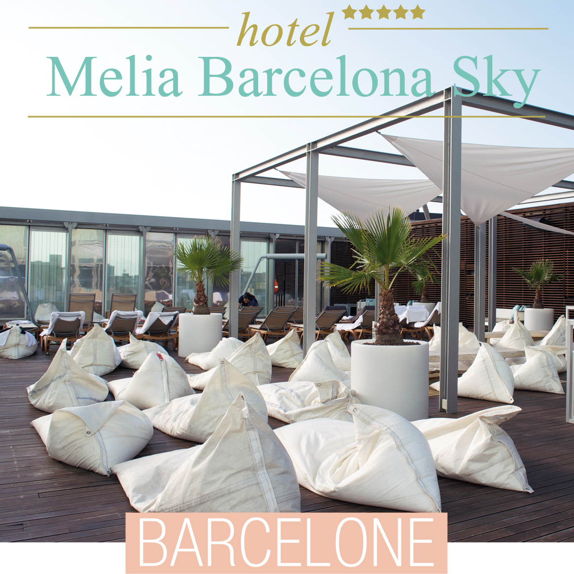 barcelone h tel the level at melia barcelona sky espagne une pintade montpellier. Black Bedroom Furniture Sets. Home Design Ideas