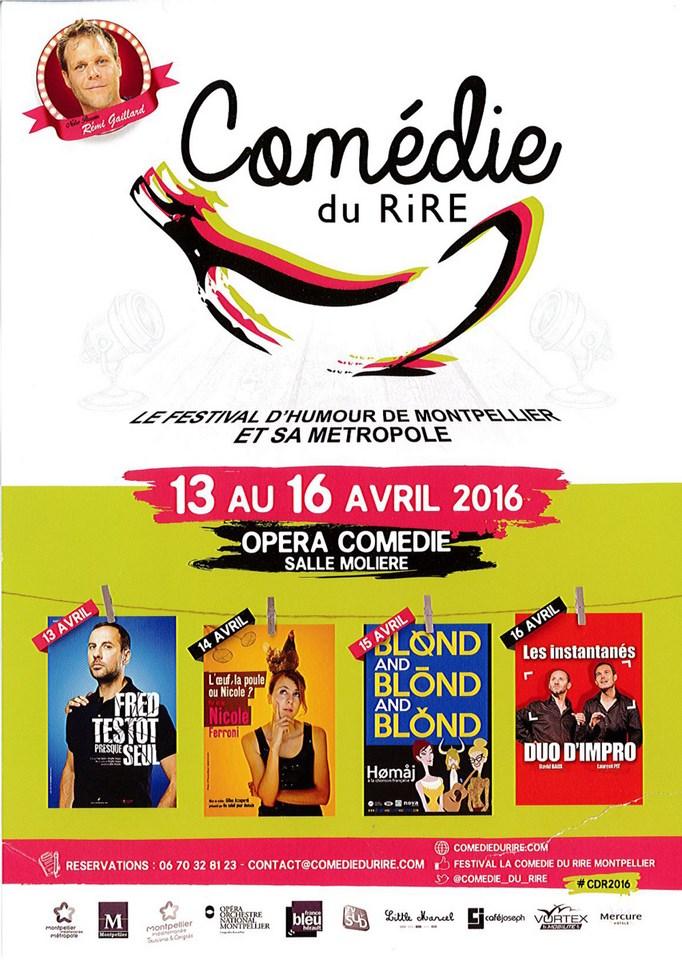 La comédie du rire à Montpellier du 13 au 16 avril 2016