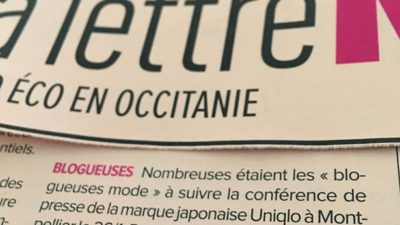 LA LETTRE M // Blogueuse mode chez UNIQLO